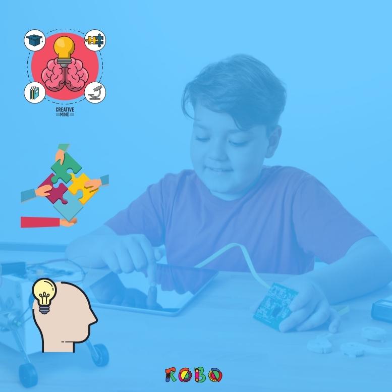 Lrenen Kinder Robotik, verbessert sich ihre Problemlösefähigkeit und kreatives Denken.