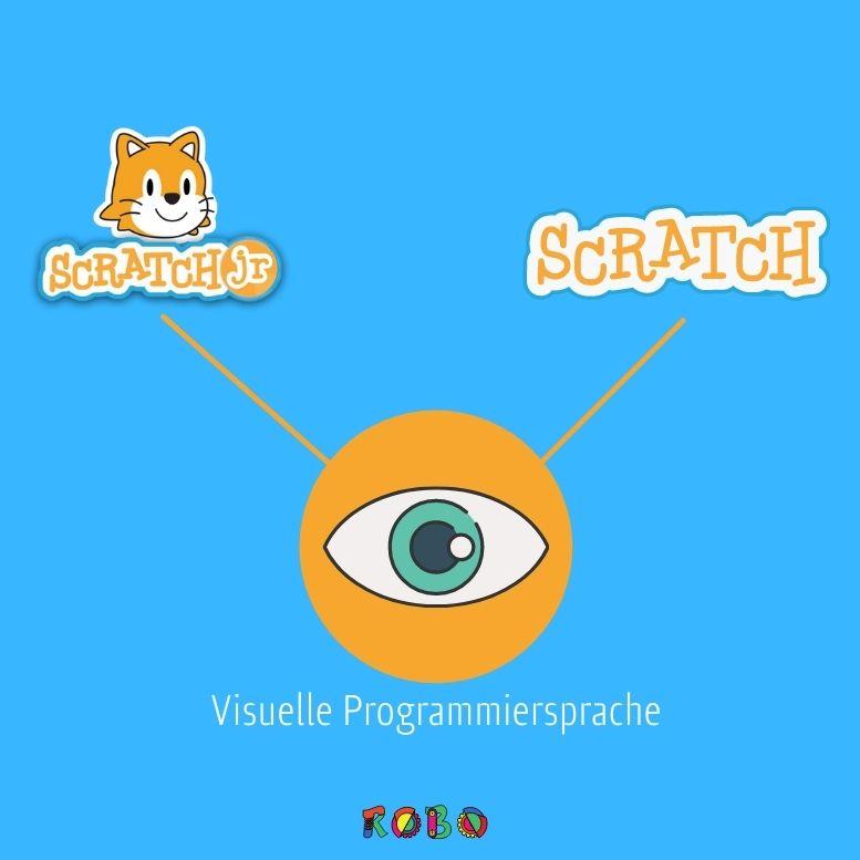 Die Gemeinsamkeiten von Scratch und Scratch Junior liegen auf der Hand: Beide Programmiersprachen sind rein grafisch gehalten.