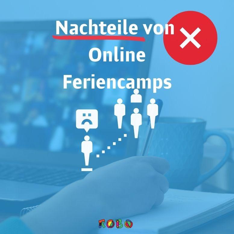 """Die Nachteile von online Feriencamps liegen unter anderem, in ihrer physischen Einschränkung, da sie """"nur"""" online gehalten werden und nicht vor Ort."""