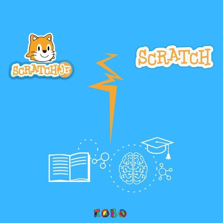 Der wesentliche Unterschied von Scratch und Scratch Junior ist die Komplexität der Benutzeroberfläche und Programmiersprache.
