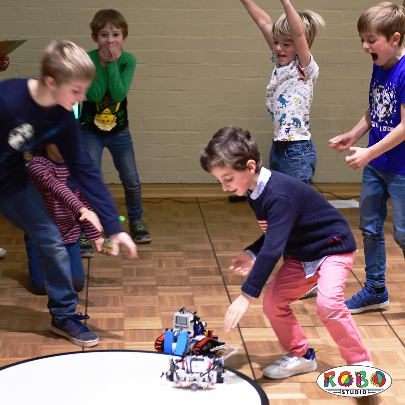 Lego Mindstorms Sumo Wettbewerb - Nach dem Match